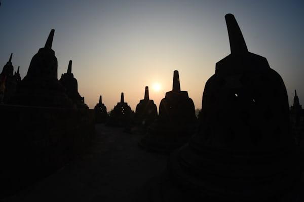 Borobudur Sunrise V  Java, Indonesia Photography Art | Brian Ross Photography