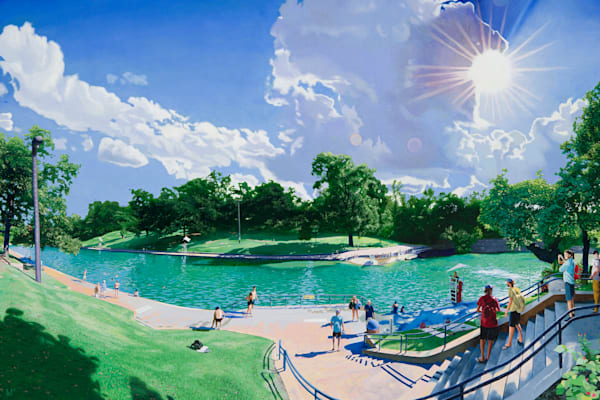 Barton Springs, Austin Art, the Art of Max Voss-Nester