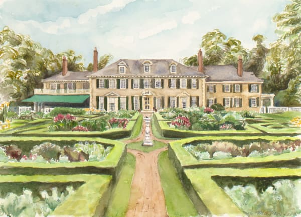 Hildene Watercolor Print