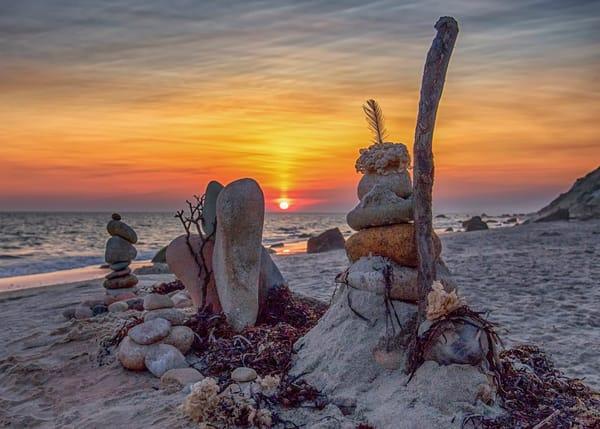 Moshp Beach Sunset Creative Cairn