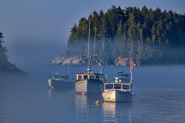 Morning Mist in Five Islands Harbor