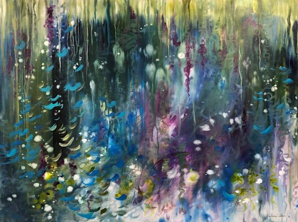 CASCADE an original acrylic in the Stardust Series by Kim Howes Zabbia