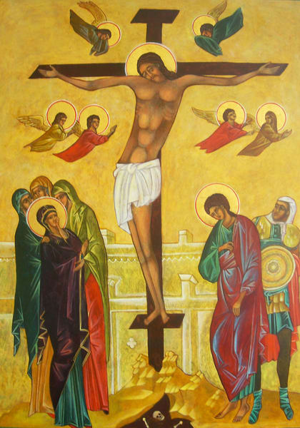 Crucifixion Icon  Art | Hales Art