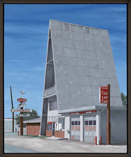 A-Frame Gas Station | Denver, CO | Original Oil Painting & Prints