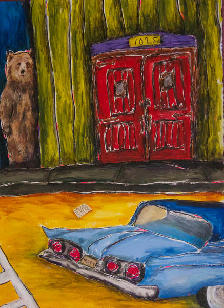 Mysterious bear and a  56 Thunderbird