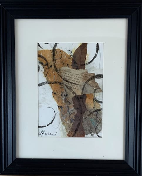 Mixed media, original, water color paper, neutral colors, hand painted papers, stencils