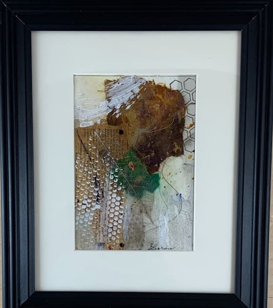 Original, mixed media, water color paper, tea stained, gesso, stencil, stamping, neutral colors, hand painted papers