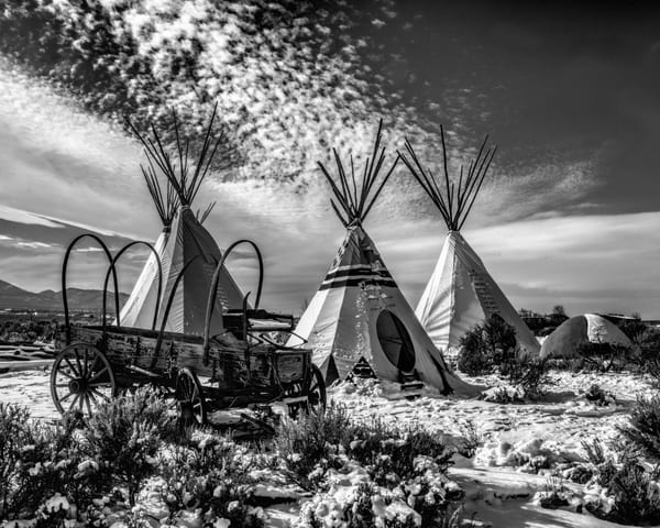 Taos Drumming (Black & White) Art | Jim Livingston Art