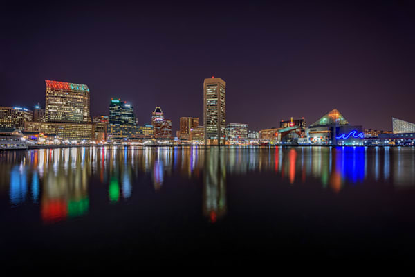 Night Falls on Baltimore | Shop Photography by Rick Berk