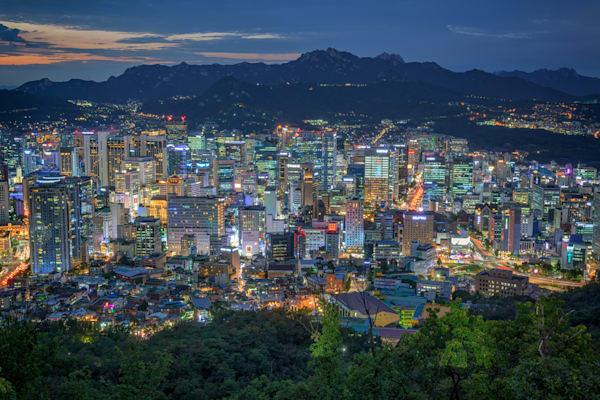 The Seoul Skyline | Shop Photography by Rick Berk