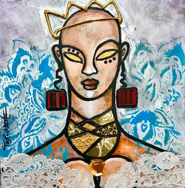 Golden Eye Queen Art   thomaselockhart
