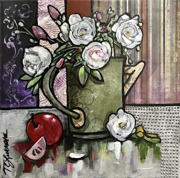 White Roses Fruit On The Vine Art   thomaselockhart