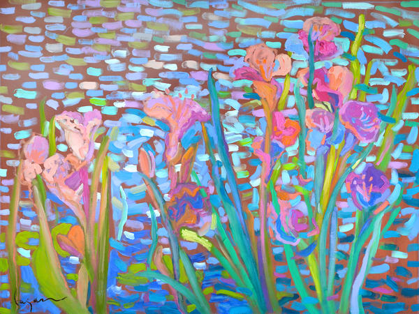 Beautiful Iris Flower Painting Limited Edition by Dorothy Fagan