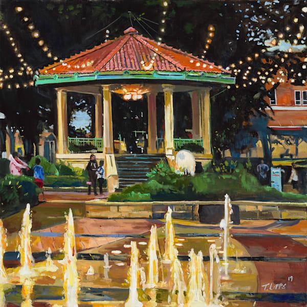 Washington park Gazebo painting