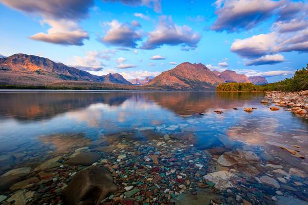st marys lake sunrise