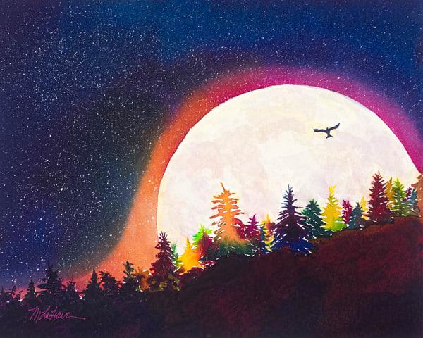 Gigantic Moon Art   Mickey La Fave