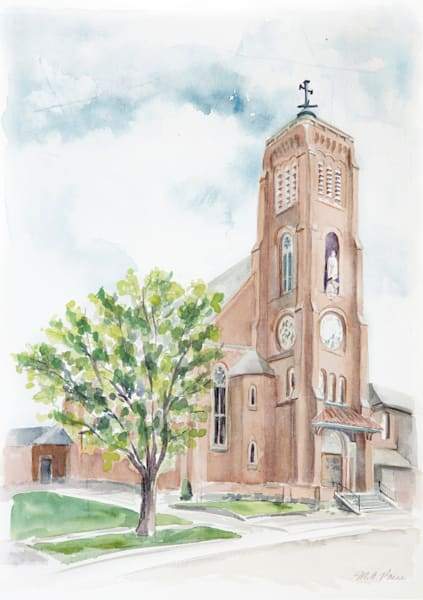 ORIGINAL St. Joseph Maumee Watercolor