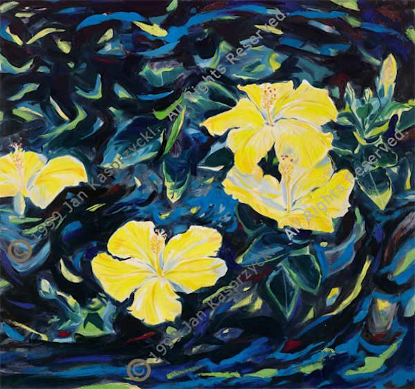 Night Hibiscus, Ltd Edition Art | Kasprzycki Fine Art Inc.