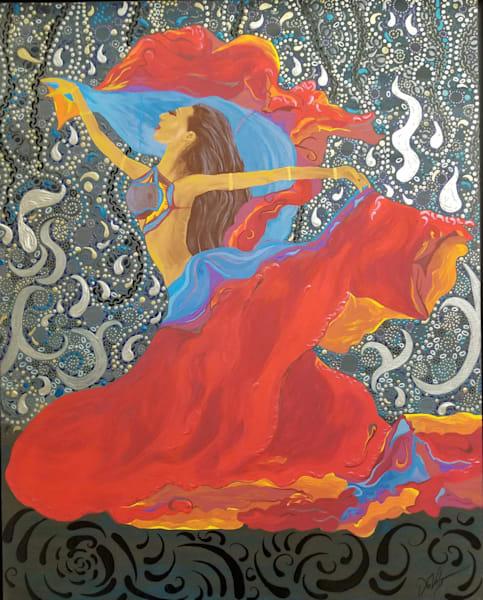 Middle Eastern Dancer, Georgia Art   TAVolgenau