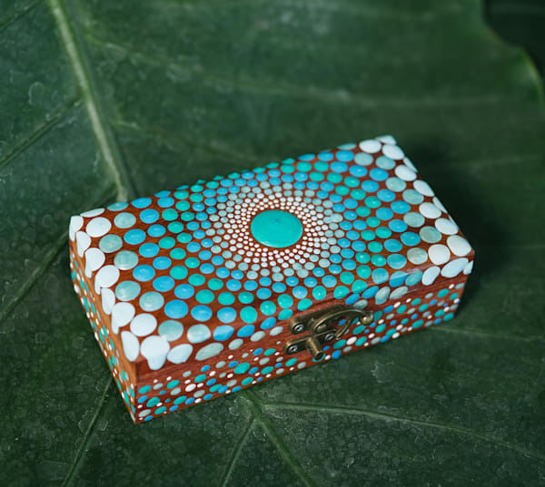 Gorgeous Blue Jewelry Box (A)