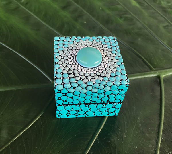 Blue Agate Ring Box (A)
