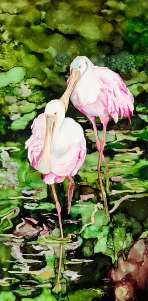 Shop a beautiful painting collection of Bird art reproductions, alcohol ink art by Heidi Stavinga