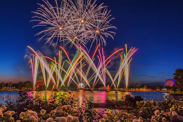 Illuminations Blue Hour - Epcot Fireworks | William Drew Photography