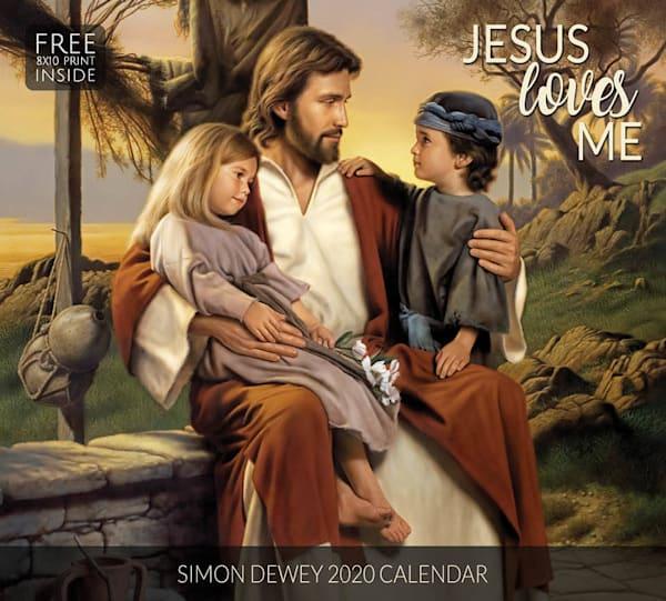 2020 Simon Dewey Calendar- Jesus Loves Me