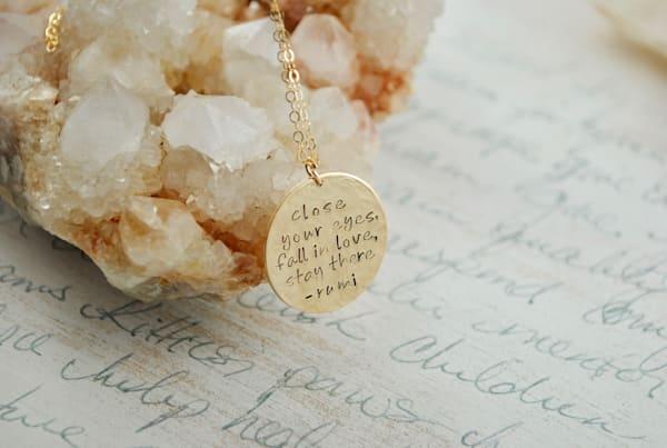 Rumi Quote Necklace