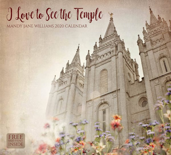 2020 Mandy Jane Williams Calendar- I love to See the Temple