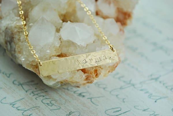 Karma Gold Bar Necklace