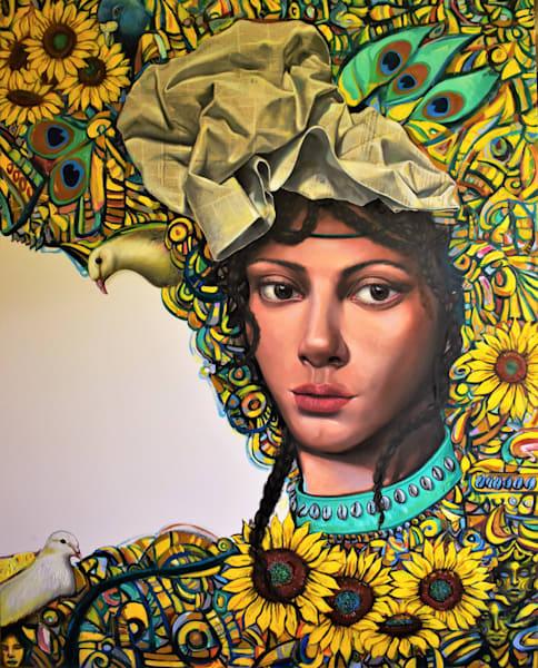 Mujer Girasol 60x48 Pulgadas Oleo Tela 2018. Art | Art Design & Inspiration Gallery