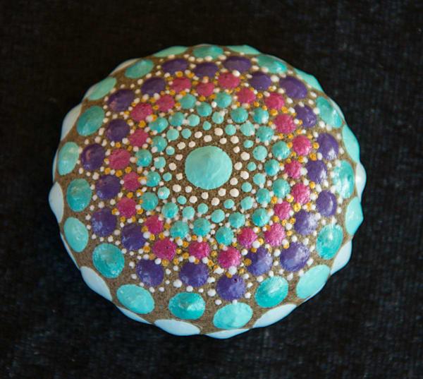 Stunningly Beautiful Mandala Stone (E)