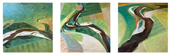 Tributaries Triptych - Trending East