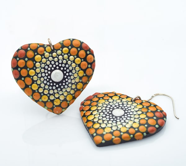 Heart Earrings (B)