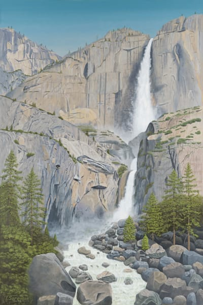24x16 Yosemite Falls On Paper Art | HFA print gallery