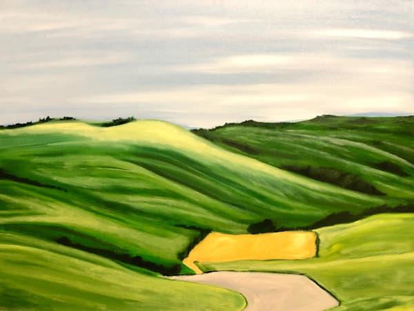 Tuscan Landscape Green