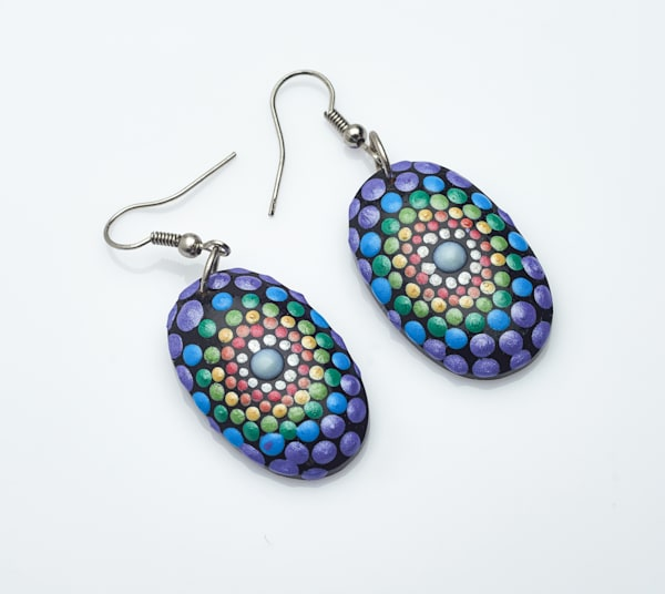 Mini Oval Earrings (A)