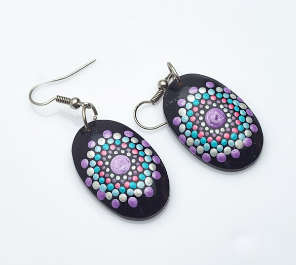 Mini Oval Earrings (B)