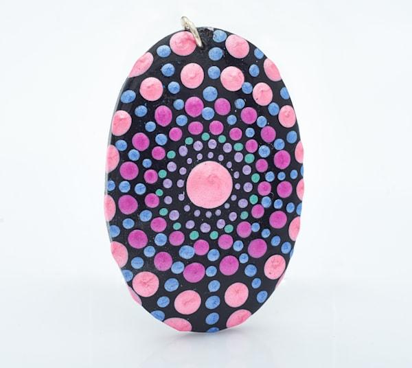 Pinkish Oval Pendant (A)
