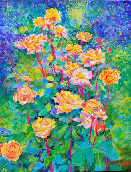 Rainbow Sorbet Roses Art   Kasprzycki Fiine Art Inc.