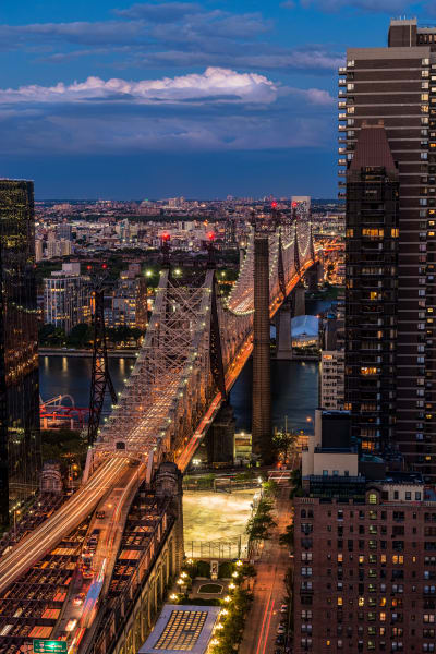Queensboro Bridge at twilight