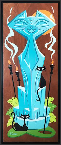 """""""Tiki pā'ina"""" Original Painting"""