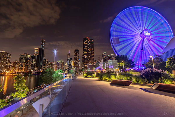 Navy Pier and Chicago Skyline - City Murals | William Drew Photography