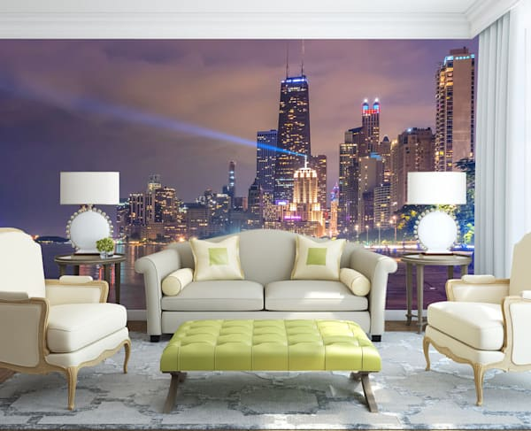 One Night in Chicago - Chicago Murals & Skyline Wallpaper
