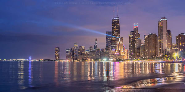 One Night in Chicago - Cityscape Wall Mural