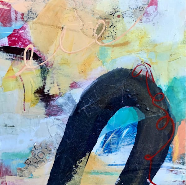 Abstract Painting With Black Art | Debbie Dicker - Art