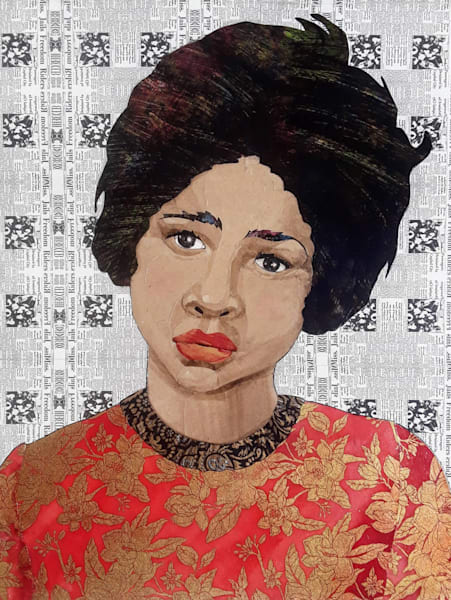 Dolores Lynch, Freedom Rider Art | Karen Sikie Paper Mosaic Studio