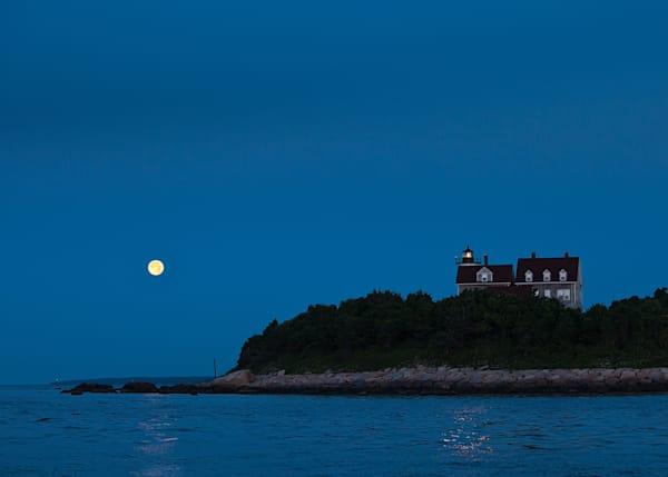 Jeff Adams Photography - Art Prints - Full Moon over Nobska 781