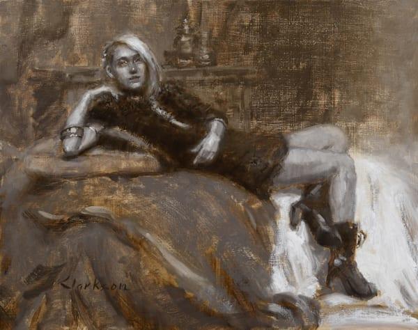 Black Boots, Monochrome, Original Oil Painting